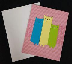 Cat Trio Note Card 01