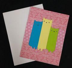 Cat Trio Note Card 02