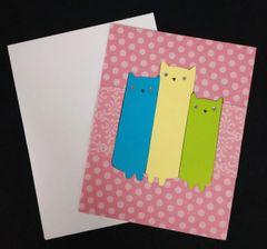 Cat Trio Note Card 03