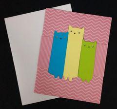 Cat Trio Note Card 04