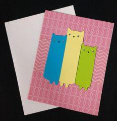 Cat Trio Note Card 05