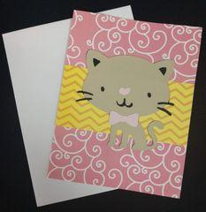 Cat Cute Note Card 04