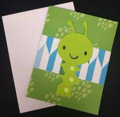Caterpillar Note Card 01