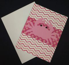 Crab Pink Note Card 01