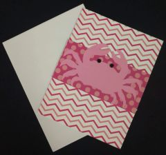 Crab Pink Note Card 02