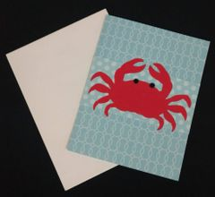 Crab Red Note Card 01
