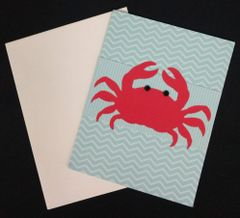 Crab Red Note Card 02