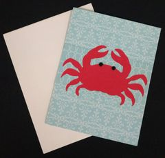Crab Red Note Card 03