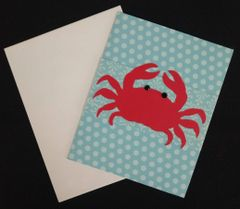 Crab Red Note Card 04