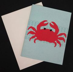 Crab Red Note Card 05