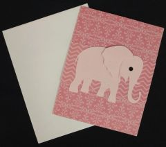 Elephant Pink Note Card 02