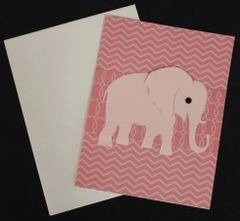 Elephant Pink Note Card 04
