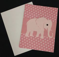 Elephant Pink Note Card 05