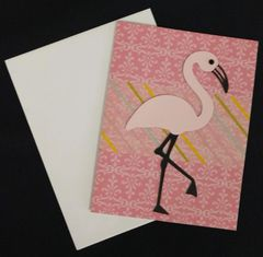 Flamingo Pink Note Card 01