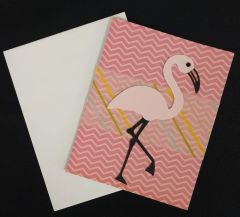 Flamingo Pink Note Card 03