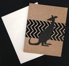 Kangaroo Note Card 03