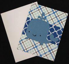 Whale Cute Note Card 02