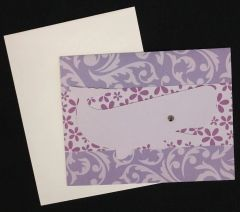 Whale Purple Note Card 04