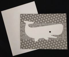 Whale White Note Card 02