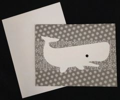 Whale White Note Card 04