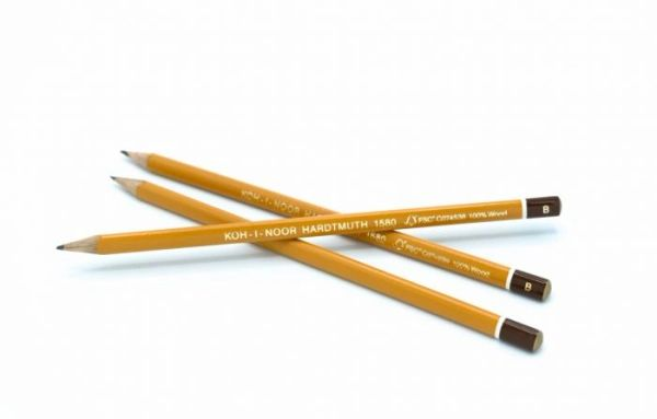 Koh-i-Noor Graphite Pencil Lacquered Thin Triangular 3 Pack – B