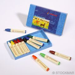 Stockmar Wax Stick Crayons - 12 colours in cardboard box