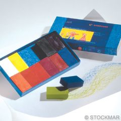 Stockmar Wax Blocks - 12 coloursin cardboard box