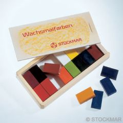 Stockmar Wax Blocks - 16 colours in Wooden Box