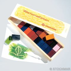 Stockmar Wax Blocks - 24 colours in a Wooden Box