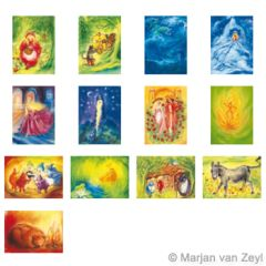 Assortment Fairy Tale Picture - 13Postcards - by Marjan van Zeyl