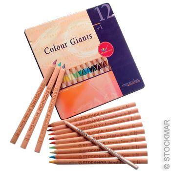 Mercurius Colour Giants Waldorf Assortment - 12 Colours + 1 Splender