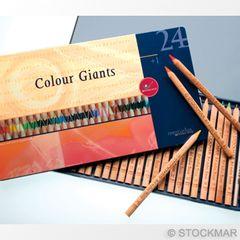 Mercurius Colour Giants - 24 colours + 1 splender in tin case