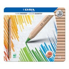 Lyra Color Giants - unlacquered - 18 colours in a tin box