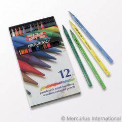 Progresso Woodless Coloured Pencils - 12 colours
