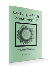 Making Math Meaningful: A 7th Grade Student's Workbook by Jamie York