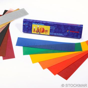 Stockmar Decorating Wax Thin 20x4 cm/7.87x1.57 inch - 12 colours