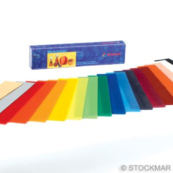 Stockmar Decorating Wax, thin 20x4 cm/7.87x1.57 inch - 18 colours