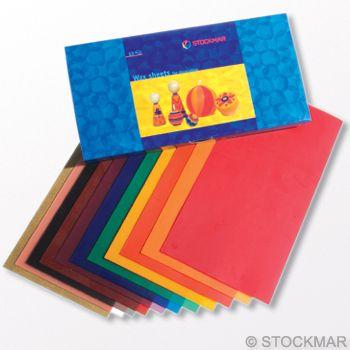 Stockmar Decorating Wax,wide 20x10 cm - 12 colours
