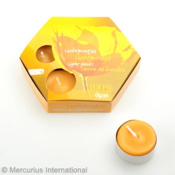 Beeswax 7 tealights TL7 with aluminum cup