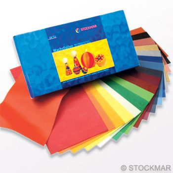 Stockmar Decorating Wax,wide 20x10 cm/7.87x3.94 inch - 18 colours