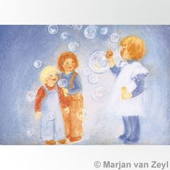 Blowing Bubbles Postcard 1 piece