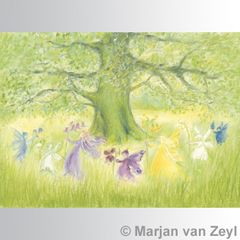 Dancing Elves postcard 1 piece