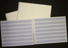 Handwriting book spiral bound white cover USA made 1 pc