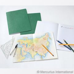 Geography Main Lesson Book - 24x32cm - green, 1 book