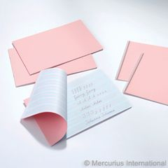 Handwriting Practice Book, pink cover - spiral binding 1x1 - 1 book