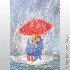 Under Mother's Umbrella postcard