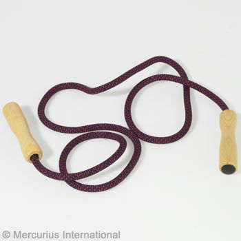 Skipping rope with wooden handles - for body length 115-135 cm (45-53 inch)