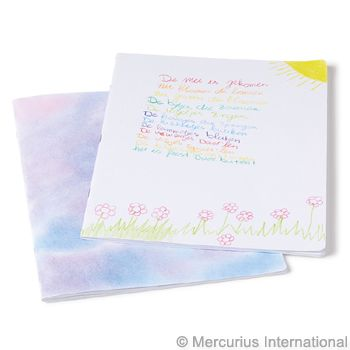 White Cover Main lesson book - 24x32 cm (9.45x12.6 inch) - portrait format - blank - stapled - without onion skin