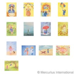 Assortment Children's Games and Children's Party I - Postcards - by Marjan van Zeyl