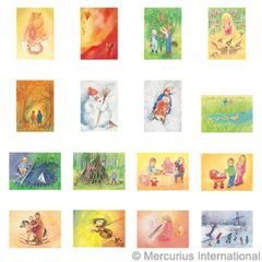 Assortment Children's Games and Children's Party II - Postcards - by Marjan van Zeyl